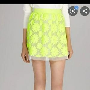 Karen Millen floral lime skirt
